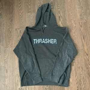 Red bubble thrasher hoodie